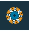 Blue and brown color mandala ornamentDecorative vector image vector image
