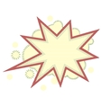 Burst and boom icon in retro style vector image