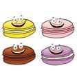 cake macaron or macaroon set vector image vector image