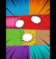 comic book colorful background vector image vector image