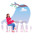 contemplation and relaxation vector image