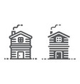 cottage line and glyph icon real estate vector image vector image