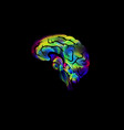creative image of the brain color icon vector image vector image