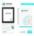 dollar globe business logo tab app diary pvc vector image vector image