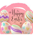 easter card with hand painting eggs vector image vector image