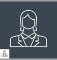 employee woman flat icon vector image
