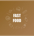 fast food background from line icon vector image