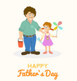 father and daughter together with toys positive vector image