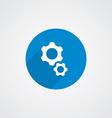 Flat Blue Settings Icon vector image