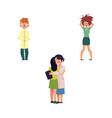 flat people suffering from mental illness vector image