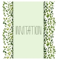 foliar frame design for greeting card vector image vector image