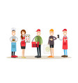 food people concept in flat vector image vector image