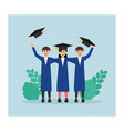fresh graduation certificate in flat design vector image vector image