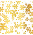 golden christmas snowflakes seamless pattern vector image