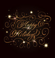 golden holidays greeting composition vector image vector image