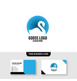 goose logo template free business card mockup vector image vector image