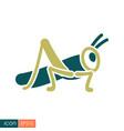 grasshopper locust icon vector image