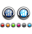 growth button vector image vector image