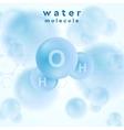 H2o water blue molecule abstract design vector image vector image
