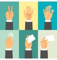 Hands in flat design style vector image