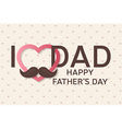 happy fathers day greeting card happy fathers day vector image vector image