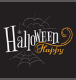 happy halloween logo sign vector image vector image