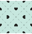 Hearts and dashes pattern vector image vector image