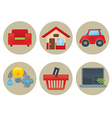 home icons collection vector image vector image
