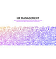 hr management concept vector image