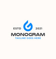 letter g drop water monogram logo template vector image vector image