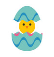 little chicken in egg vector image vector image