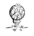 logo in the form of an abstract tree with a round vector image vector image
