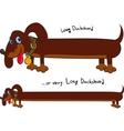 Long fun dachshund vector image vector image