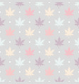 maple leaves pattern vector image vector image