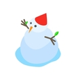melting snowman icon isometric 3d style vector image vector image