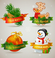 Merry Christmas icons in different languages vector image vector image