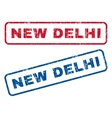 New Delhi Rubber Stamps vector image vector image