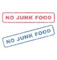 no junk food textile stamps vector image vector image