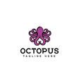 octopus logo design vector image vector image