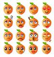 peach emoji emoticon expression vector image vector image