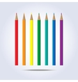 Pencils of rainbow colors in vector image