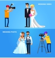 Photographer and videographer vector image