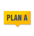 plan a price tag vector image vector image