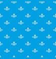 ruler pattern seamless blue vector image