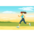 Running woman morning jogging vector image