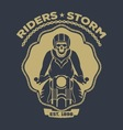 skull motorcycle logo vector image vector image