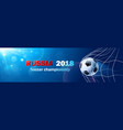 soccer world cup russia vector image vector image