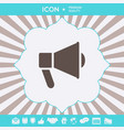 speaker bullhorn icon graphic elements for your vector image