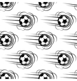Speeding soccer ball seamless pattern vector image vector image