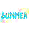 Summer banner - funny watercolor vector image